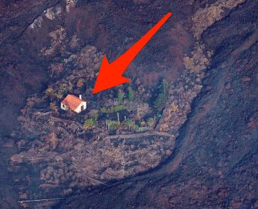 House Spared From La Palma Volcano Blast, All Around Destroyed