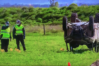 A six-year-old girl has died after an all-terrain buggy in which she was traveling with a man and six other children drove through Gippsland on Saturday afternoon.