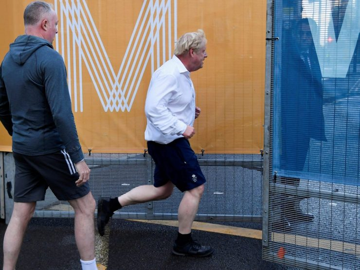 PM Boris Johnson Goes Jogging in Formal Shirt and Dress Shoes