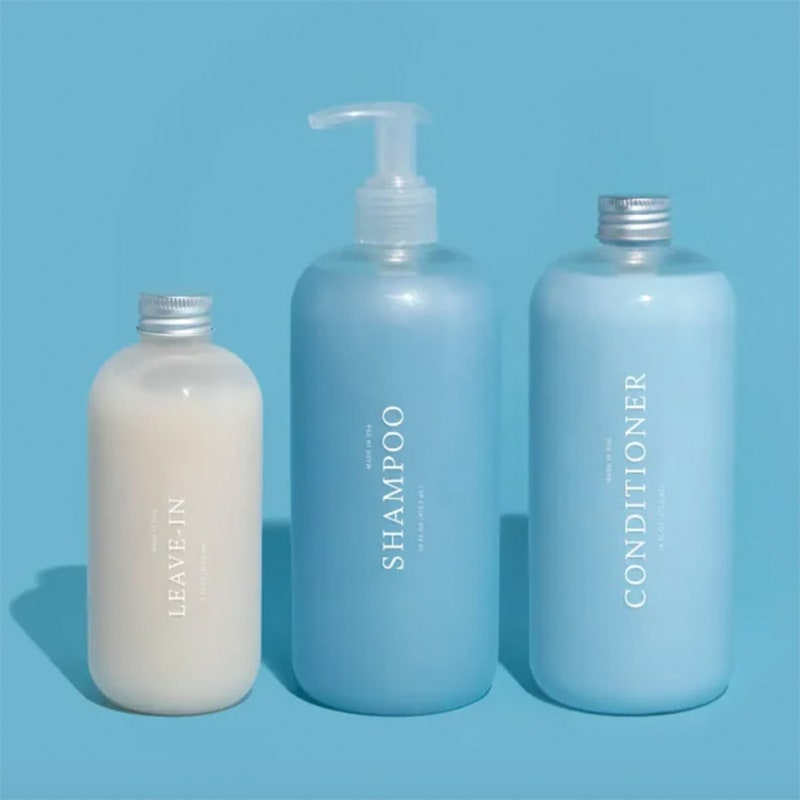 Function of Beauty shampoo, conditioner and leave-in conditioner bottles