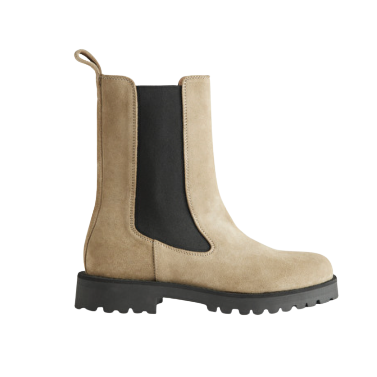 Thick-soled leather chelsea boots and other stories